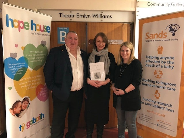 Philippa, Neville Southall MBE and Hannah Blythin AM for Delyn